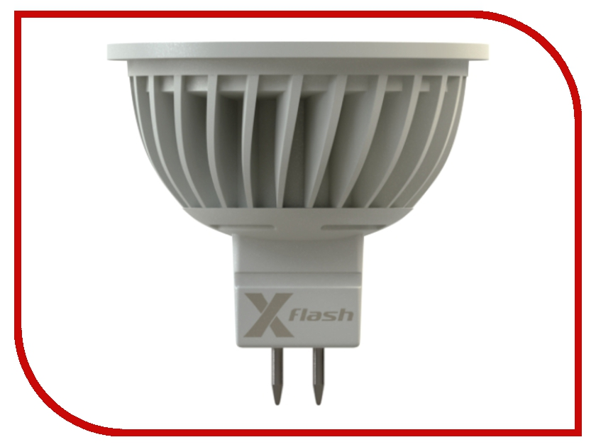 Лампочка X-flash Spotlight XF-SPL-MR16-GU5.3-5W-3K-12V желтый свет, матовая 43002<br>