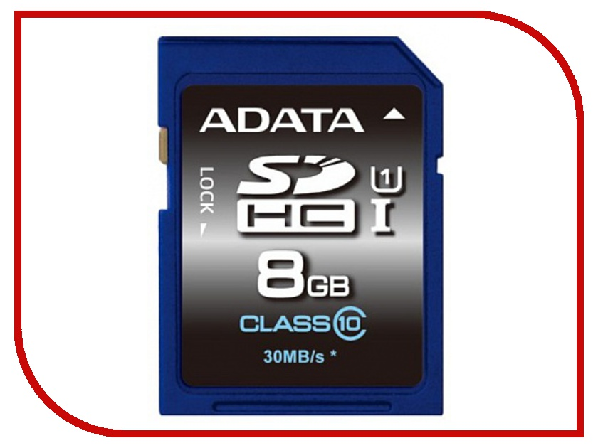 Карта памяти 8Gb - A-Data Premier - High-Capacity Class 10 UHS-I U1 - Secure Digital ASDH8GUICL10-R secure data collection