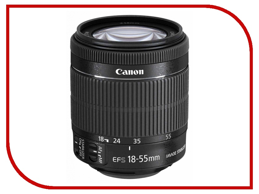 Объектив Canon EF-S 18-55 mm F/3.5-5.6 IS STM объектив canon ef s 18 55 mm f 3 5 5 6 is stm kit silver