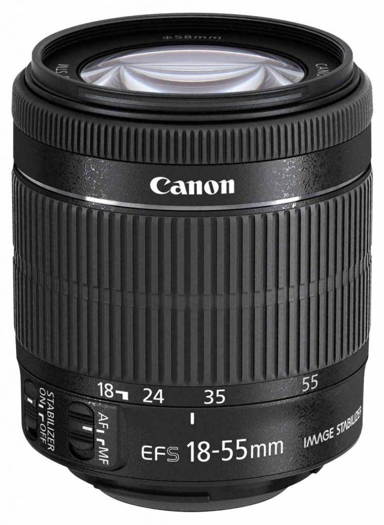 Объектив Canon EF-S 18-55 mm F/3.5-5.6 IS STM цена и фото