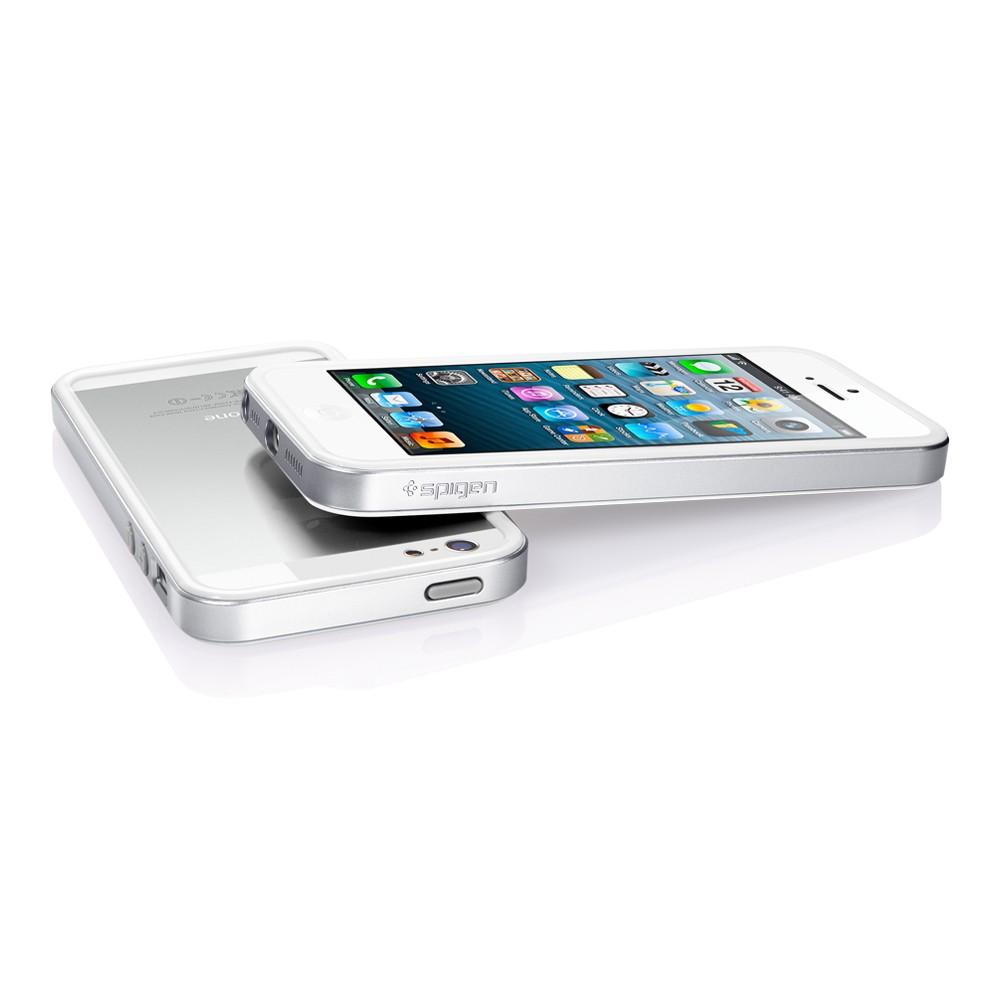 Аксессуар Чехол-бампер SGP Neo Hybrid EX Slim Metal Series for iPhone 5 Satin Silver SGP10033