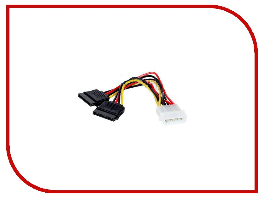 Аксессуар Переходник ExeGate 2xSATA - Molex (IDE) 15cm 138935 / 131433 1pcs serial ata sata 4 pin ide molex to 2 of 15 hdd power adapter cable hot worldwide promotion