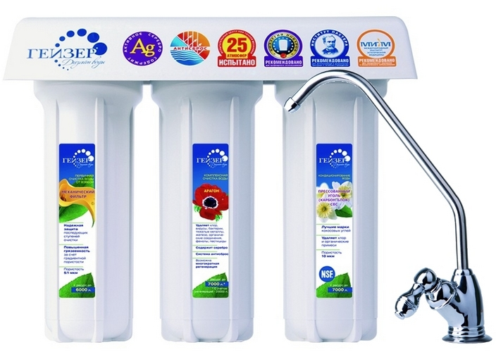 Фильтр для воды Гейзер 3 ИВЖ Люкс (кран 3) цена и фото