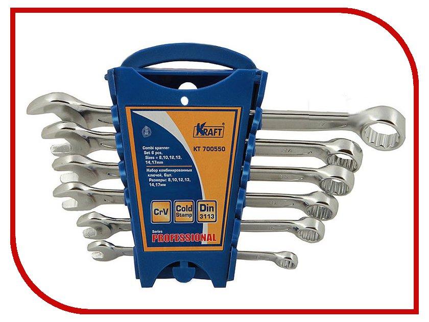 Ключ Kraft KT 700550 ключ гаечный комбинированный kraft кт 700550 8 17 мм