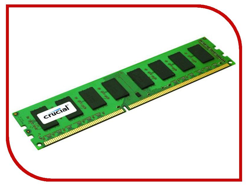 Модуль памяти Crucial DIMM DDR3 1600MHz PC3-12800 - 1Gb CT12864BA160B<br>