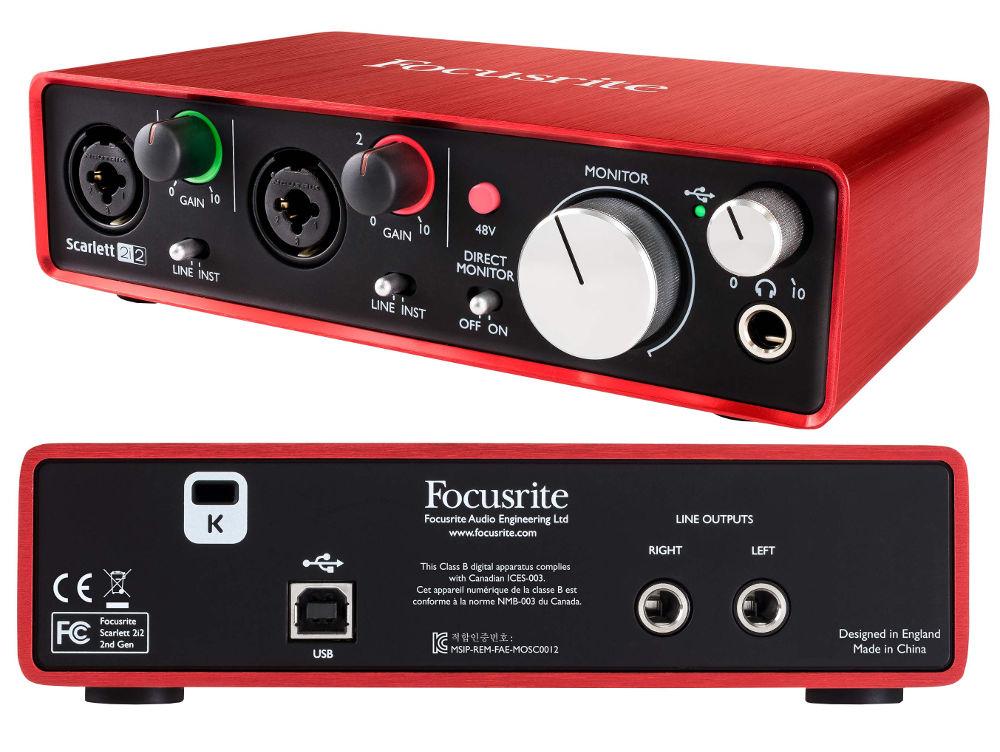 Аудиоинтерфейс Focusrite Scarlett 2i2 2nd Gen цена