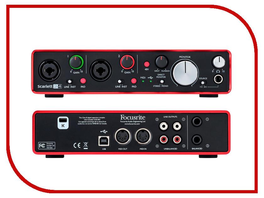 Аудиоинтерфейс Focusrite Scarlett 2i4 2nd Gen аудиоинтерфейс focusrite scarlett octopre