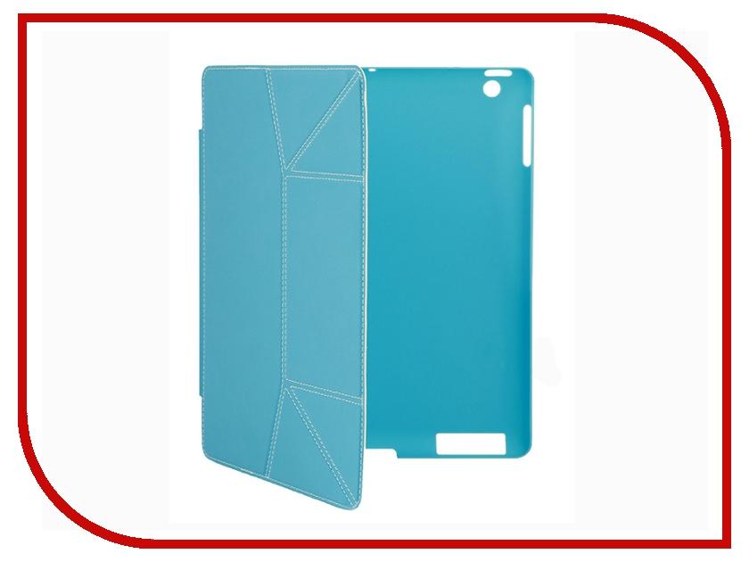 Аксессуар Чехол Jet.A IC10-38 for iPad 3 New Blue<br>
