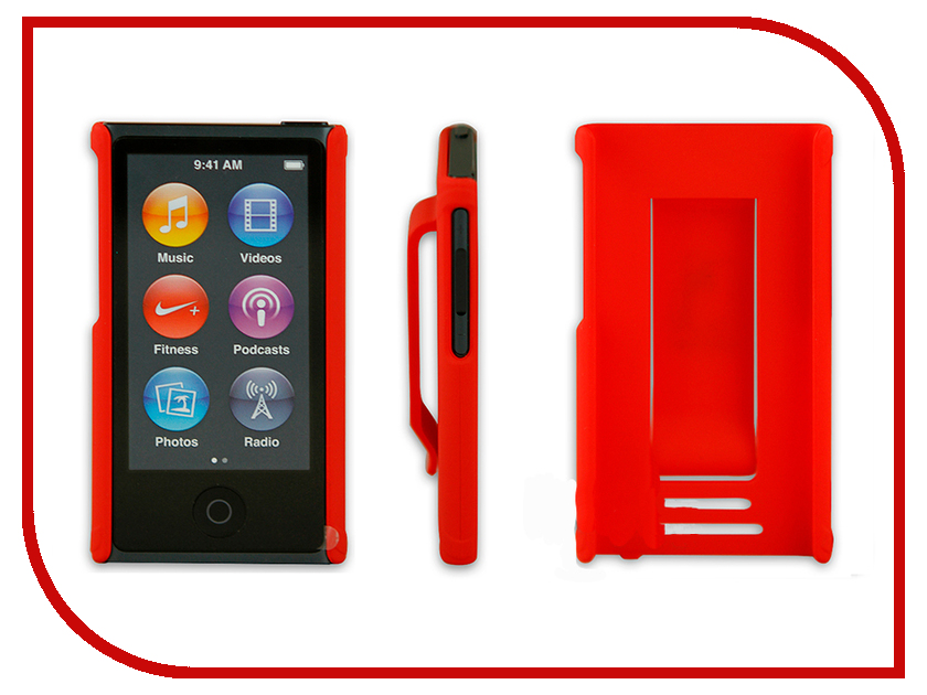 Аксессуар Чехол Just Case for iPod Nano 7 Red<br>