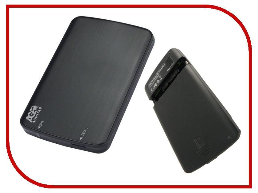 Аксессуар Внешний корпус для HDD AgeStar 3UB2A12 Black съемный hdd