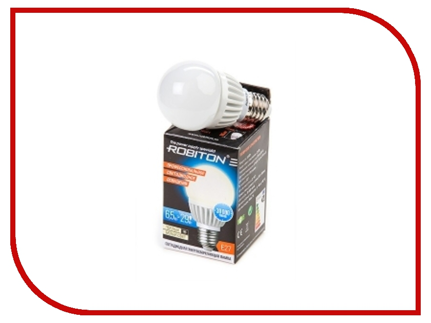 Лампочка Robiton LED Globe-6.5W-4200K-E27<br>