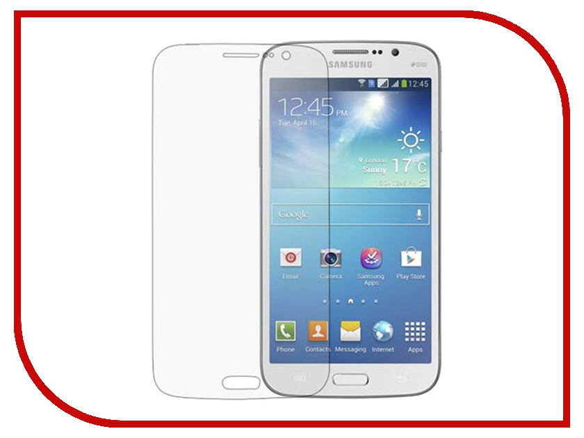 ��������� �������� ������ Samsung GT-i9190/i9192 Galaxy S4 Mini Ainy / Media Gadget / Red Line �������