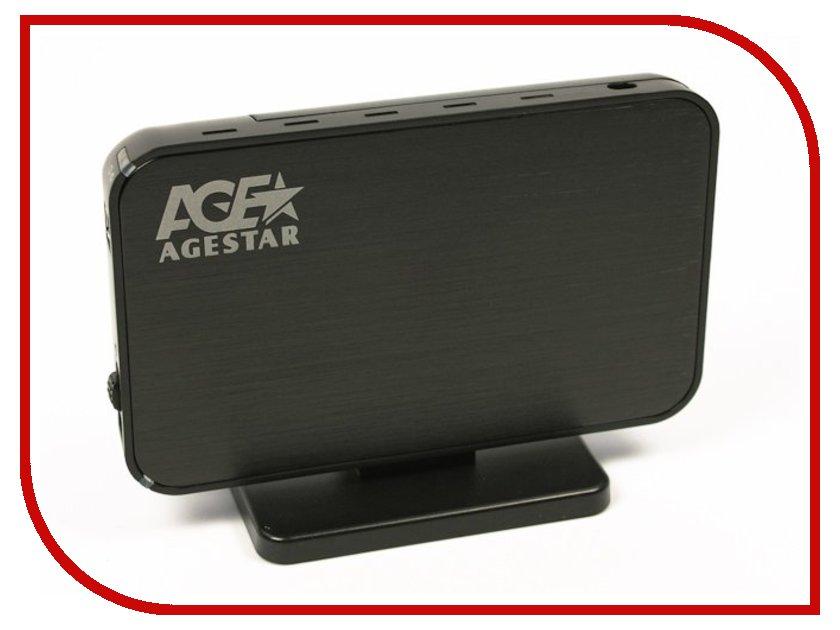 Аксессуар Внешний корпус для HDD AgeStar 3UB3A8-6G Black корпус 3 5 agestar 3ub3a8 6g sata usb3 0 silver