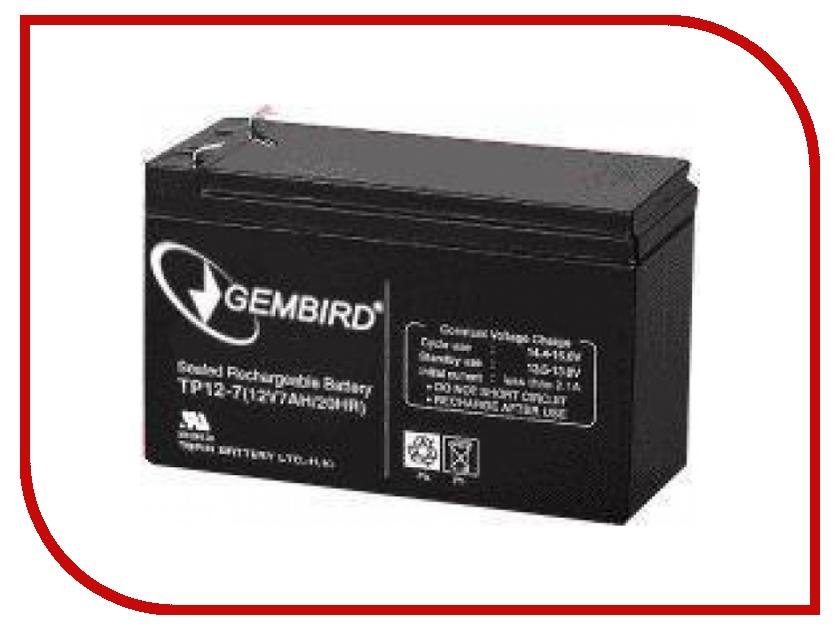 Аккумуляторы для ИБП/UPS BAT-12V7.5AH  Аккумулятор для ИБП Gembird BAT-12V7.5AH