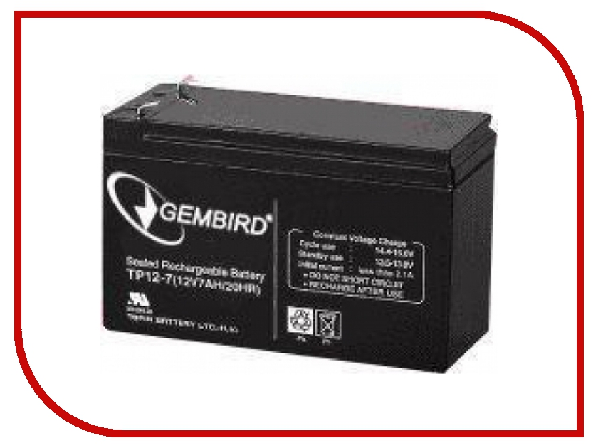 Аккумулятор для ИБП Gembird BAT-12V7.5AH<br>