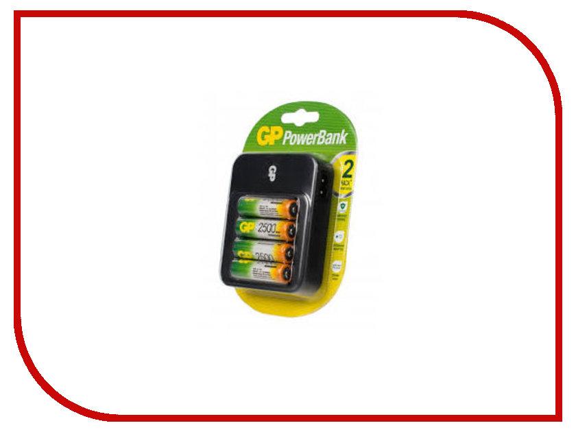 все цены на  Зарядное устройство GP PowerBank 550 + 4 ак. AA 2500 mAh (PB550GS250-2CR4)  онлайн