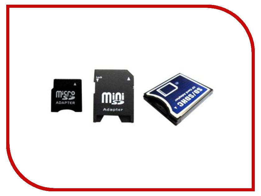 Карта памяти Набор переходников Espada MicroSD / MiniSD / на Compact Flash E SDCSca-Comp Fl<br>