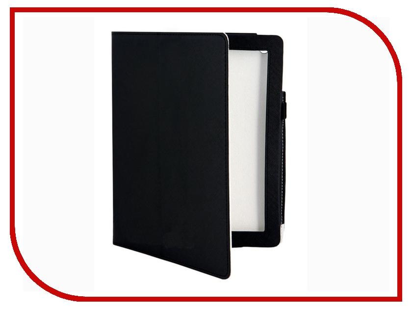 Аксессуар Чехол Jet.A IC 10-39 for iPad 3 New кожаный Black<br>