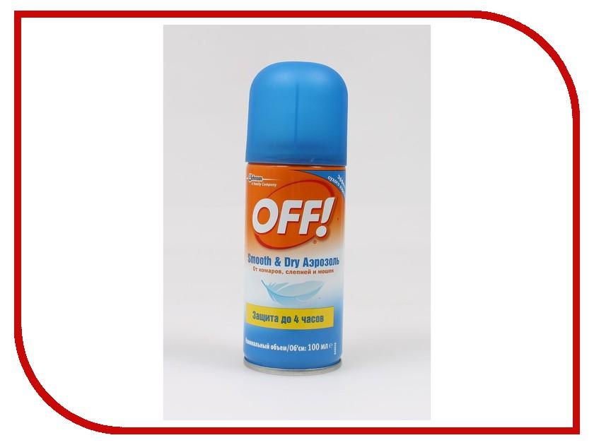 Средство защиты от комаров SC Johnson Off! Smooth & Dry аэрозоль 100мл