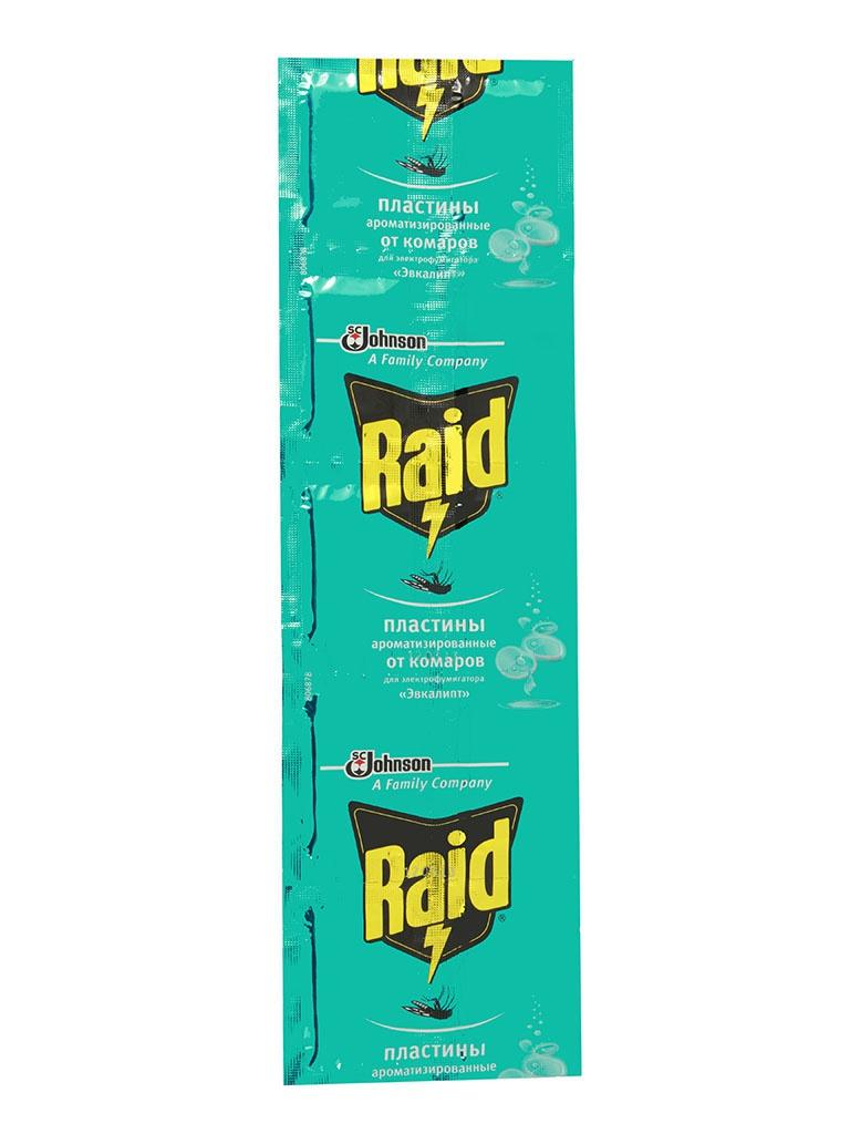 Средство защиты от комаров SC Johnson Raid Эвкалипт пластины 10 шт