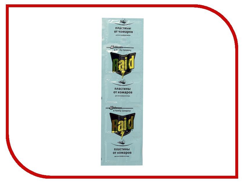 Средство защиты от комаров SC Johnson Raid Пластины 10 шт