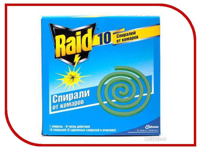 Средство защиты от комаров SC Johnson Raid Спирали 10 шт