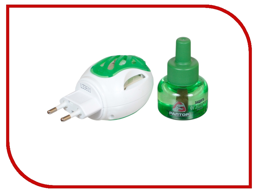 Средство защиты от комаров РАПТОР TURBO прибор+жидкость 40 ночей средство защиты от комаров раптор комплект прибор жидкость 30 ночей 10 пластин
