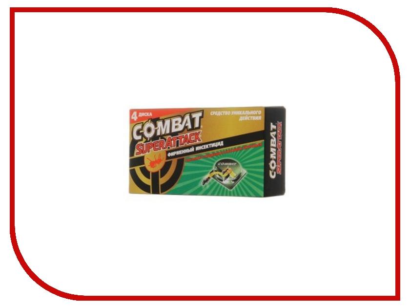 Средство защиты COMBAT Super Attack Ловушки для муравьёв, 4шт