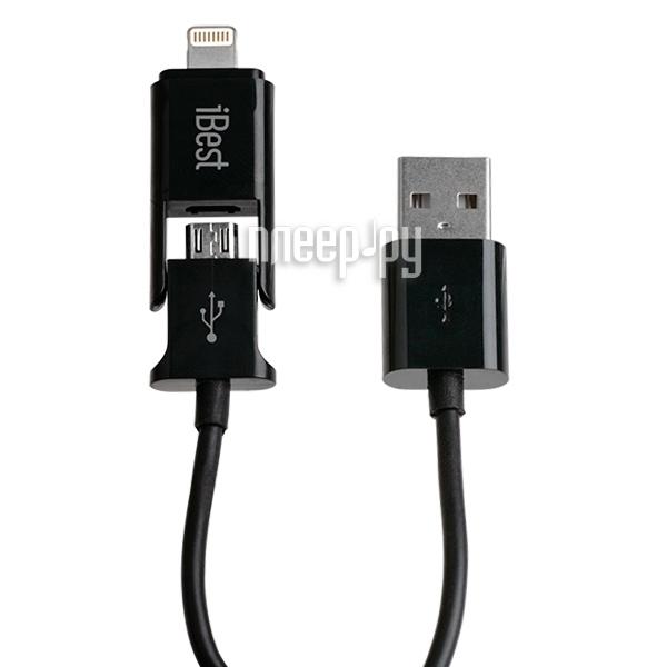Аксессуар iBest IPW-10 Black c адаптером lightning  Pleer.ru  725.000