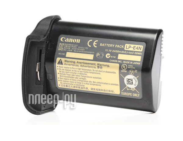 Аккумулятор Canon LP-E4N for EOS-1D X  Pleer.ru  6597.000