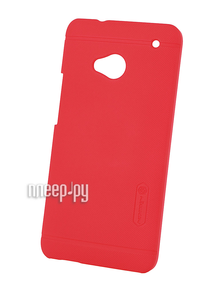 Аксессуар Чехол-накладка HTC One Dual Sim Nillkin Super Frosted Shield Red  Pleer.ru  300.000
