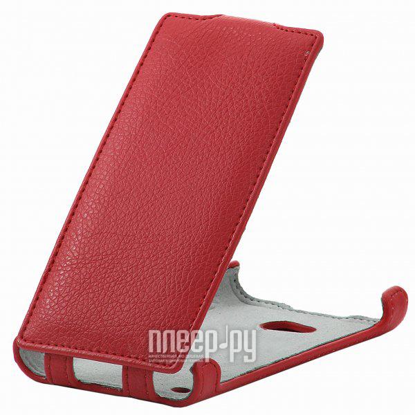 Аксессуар Чехол Nokia Lumia 720 Gecko / Nillkin Fresh Series Leather Case Red  Pleer.ru  371.000