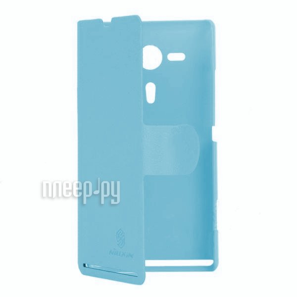 Аксессуар Чехол Sony Xperia SP Nillkin Fresh Series Leather Case Blue  Pleer.ru  1197.000