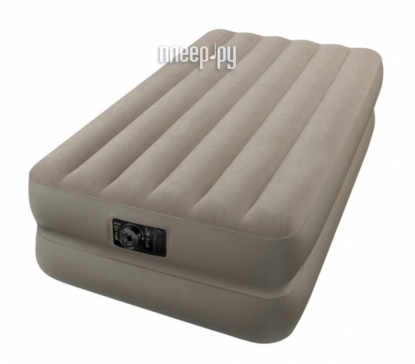 Надувной матрас Intex Twin Comfort 191x99x48cm + насос 66946