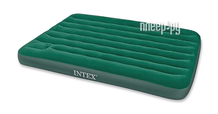 Надувной матрас Intex Full Downy Bed 137x191x22cm + насос 66928