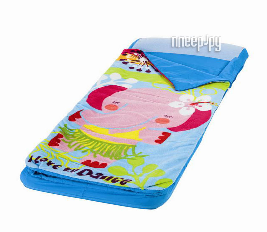 Надувной матрас Intex со спальным мешком Hula Elly 64x152x20cm + насос 66802