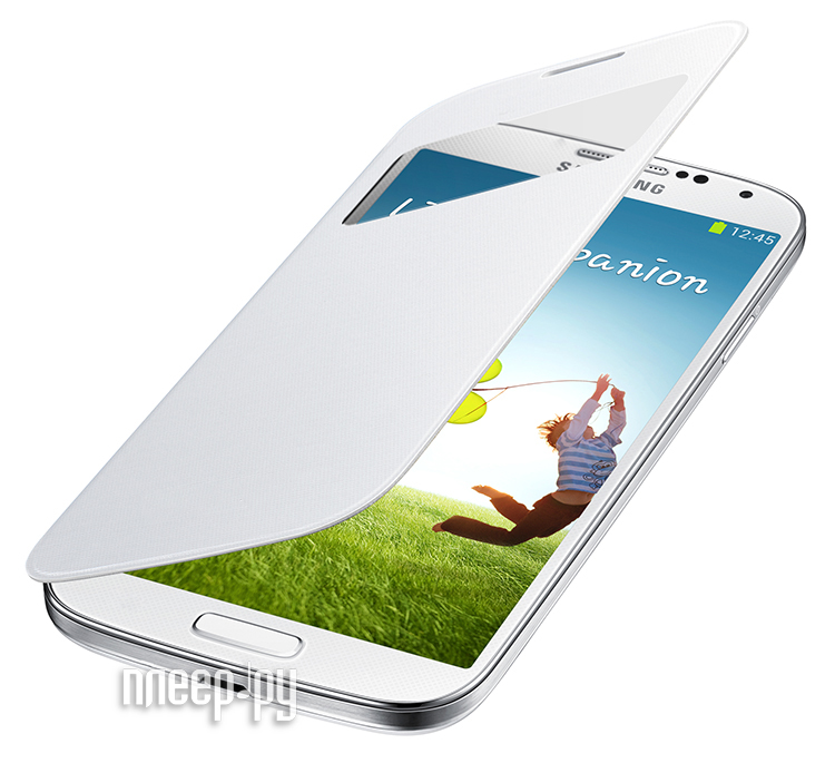 Аксессуар Чехол Samsung GT-i9192 Galaxy S4 mini S-View EF-CI919BWEGRU White  Pleer.ru  1820.000