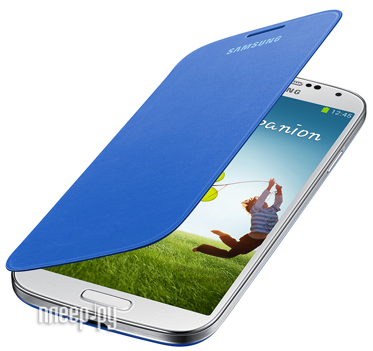 Аксессуар Чехол Samsung GT-i9192 Galaxy S4 mini EF-FI919BCEGRU Blue  Pleer.ru  1465.000