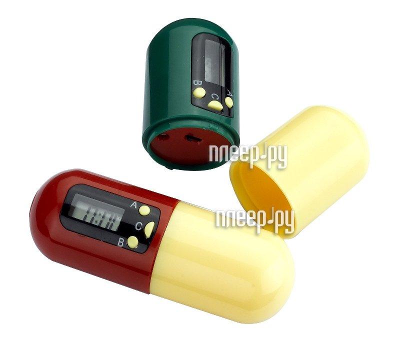 Таблетница Bradex НАПОМИНАТЕЛЬ Контейнер для таблеток с таймером KZ 0105