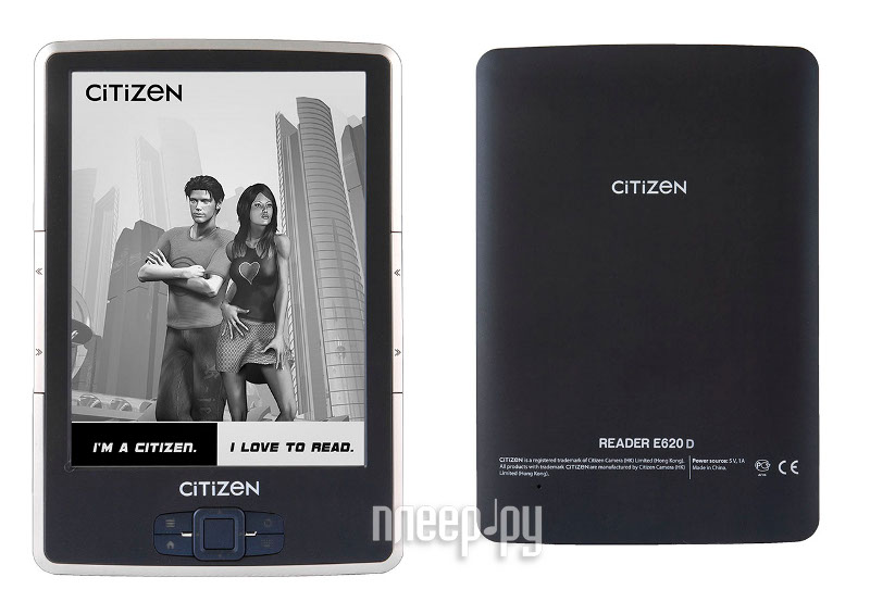 Электронная книга Citizen Reader E620D Dark Blue  Pleer.ru  3889.000