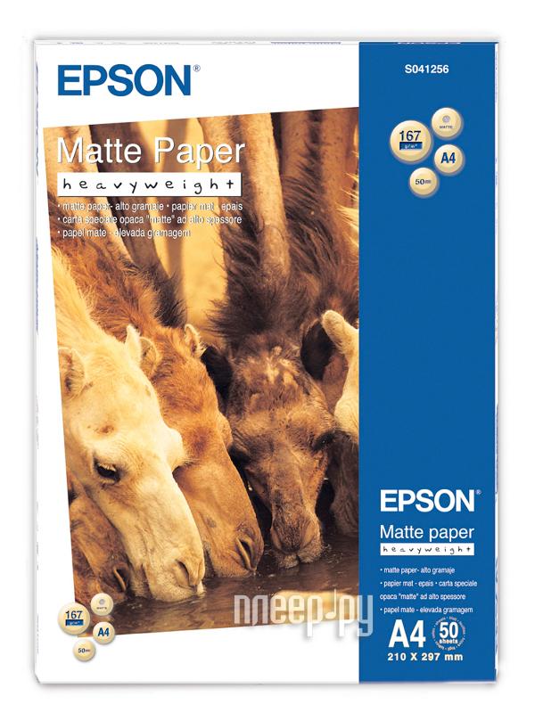 Фотобумага Epson Matte HeavyWeight Paper C13S041256
