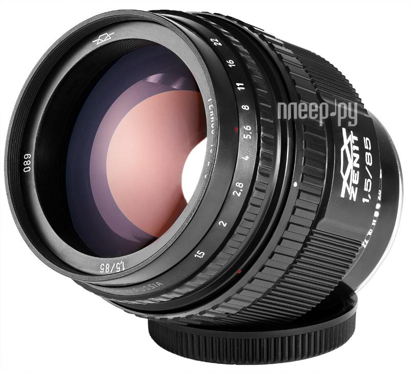 Объектив Зенит МС Гелиос 40-2C Canon 85 mm F/1.5  Pleer.ru  12699.000