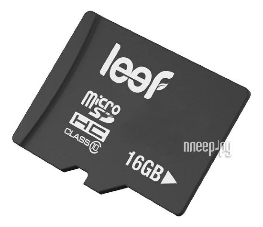 Карта памяти 16Gb - Leef - Micro Secure Digital HC Class 10 LFMSD-01610R
