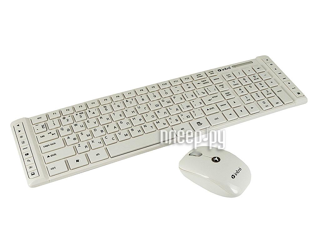Набор Intro CW203SM Wireless Slim Multimedia White  Pleer.ru  775.000