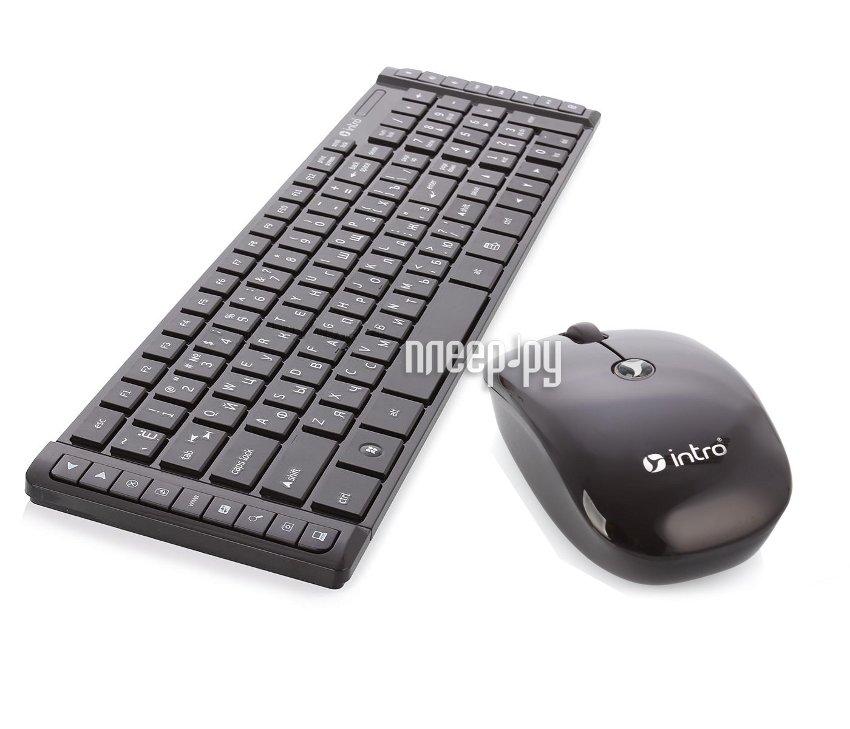 Набор Intro CW203SM Wireless Slim Multimedia Black  Pleer.ru  775.000