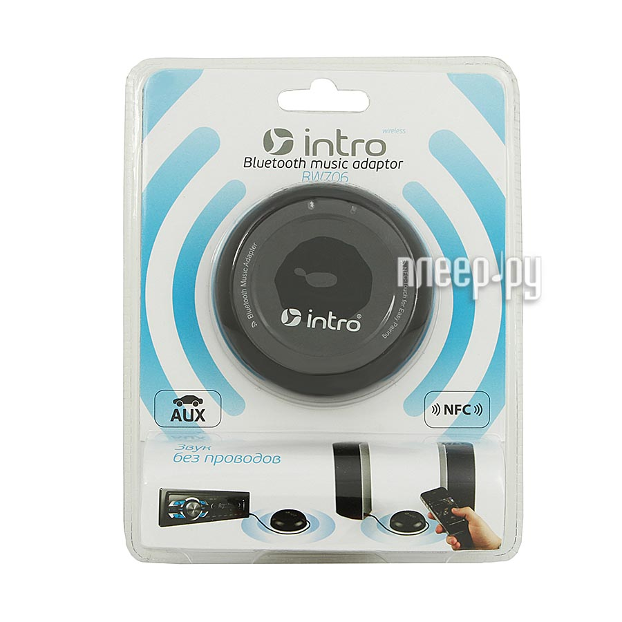 Мини-колонка Intro RW706 Receiver WIRELESS Bluetooth NFC Black  Pleer.ru  910.000
