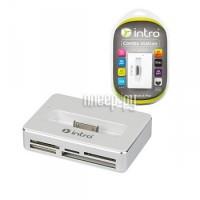 Intro HR514 IDock/Card Reader/2 port USB + power adapter White