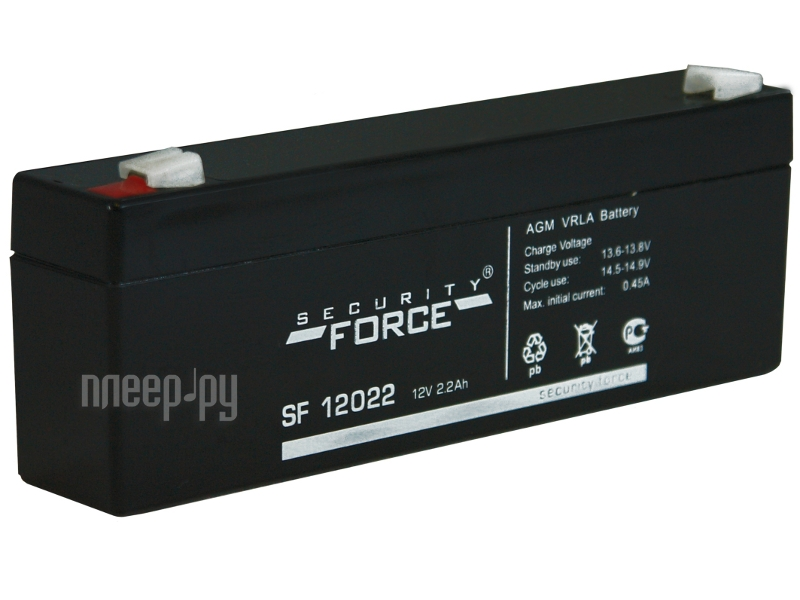 Аксессуар Security Force АКБ-2.3 SF 12022 - аккумулятор  Pleer.ru  248.000