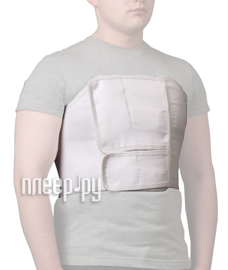 Ортопедическое изделие КОМФ-ОРТ К-619 - пояс послеоперационный, грудно-брюшной, мужской, №3 60-80см