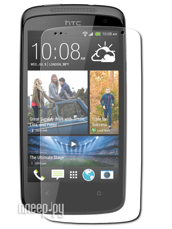 Аксессуар Защитная пленка HTC Desire 500 LuxCase суперпрозрачная 80363  Pleer.ru  94.000